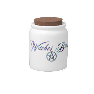 Witches brew jar with lid candy dish