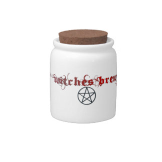 Witches brew jar with lid candy jar
