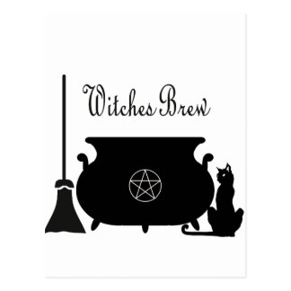 Witches Brew Postcard