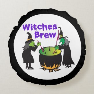 Witches Brew Round Pillow