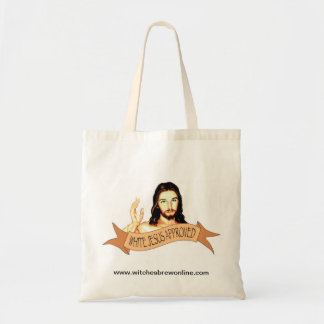 Witches Brew White Jesus Approved Tote Budget Tote Bag