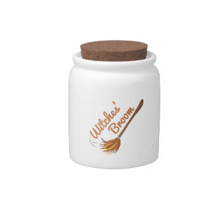 Witches Broom Candy Jar