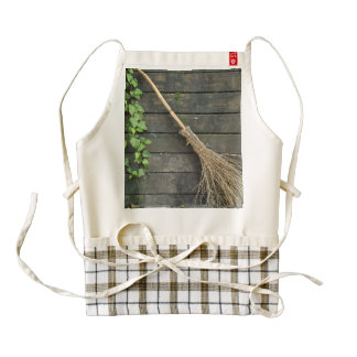 Witches broom zazzle HEART apron