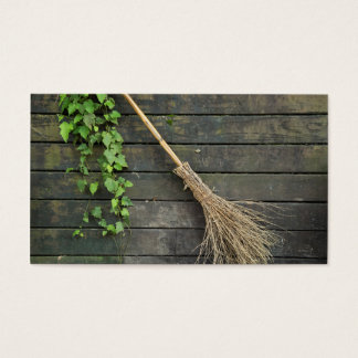 Witches broomstick business card