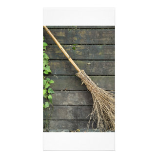 Witches broomstick card