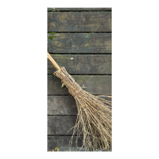 Witches broomstick rack card