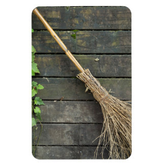 Witches broomstick rectangular photo magnet