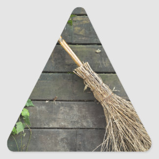 Witches broomstick triangle sticker