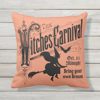 Witches Carnival for Halloween Outdoor Pillow