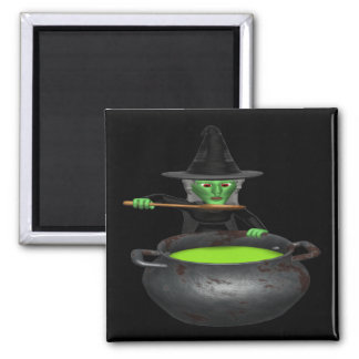 Witches Cauldron 2 Inch Square Magnet