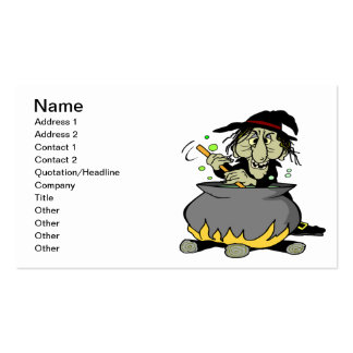 Witches Cauldron Business Card Templates