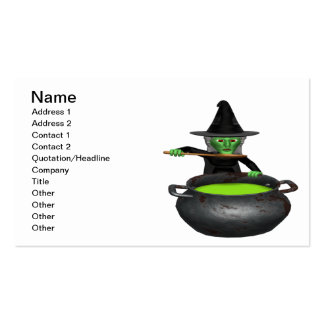 Witches Cauldron Business Card Template