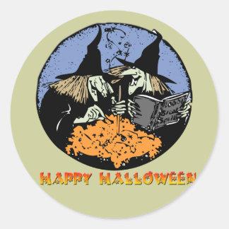 Witches Cauldron Classic Round Sticker