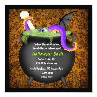 Witches Cauldron Halloween Party Invitation