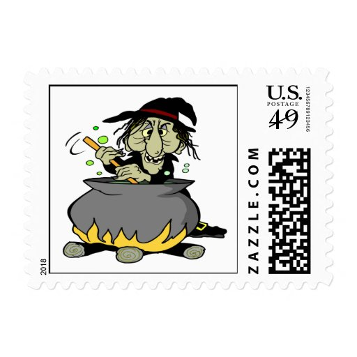 Witches Cauldron Postage Stamps
