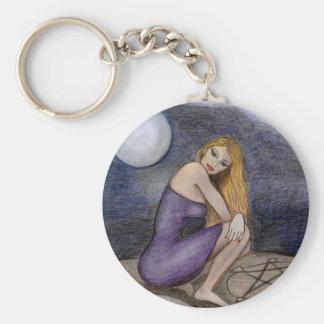 Witches Circle Basic Round Button Keychain