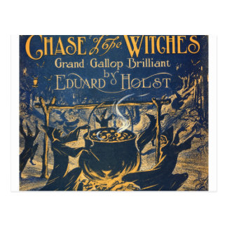 witches coven postcard