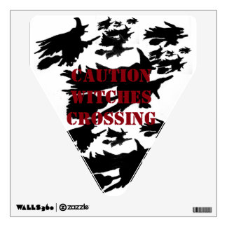 WITCHES CROSSING wall decal