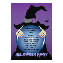 Witches Crystal Ball Halloween Invitation
