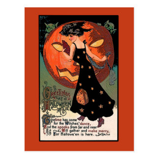 Witches Dance Halloween Greeting Card