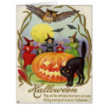 Witches Dancing Around Jack O' Lantern Card