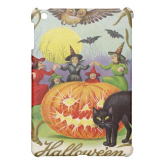 Witches Dancing Around Jack O' Lantern iPad Mini Cases