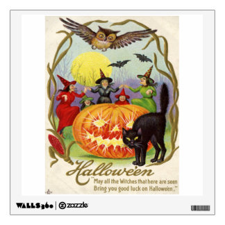 Witches Dancing Around Jack O' Lantern Wall Sticker