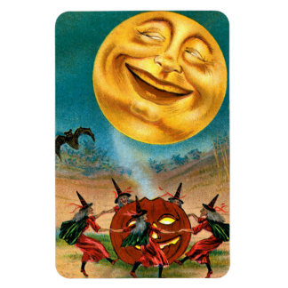 Witches Dancing Under the Moon Magnet