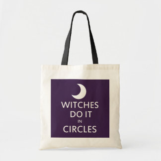 Witches do it in circles canvas bags