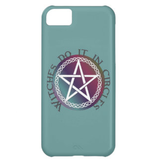 """Witches do it in circles"" cute Pagan design iPhone 5C Cover"