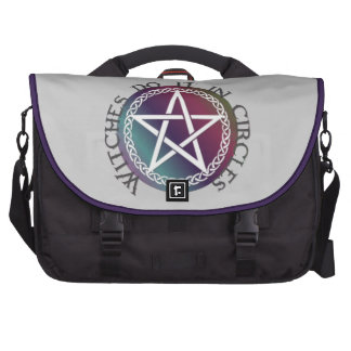 Witches do it in circles cute Pagan design Laptop Commuter Bag
