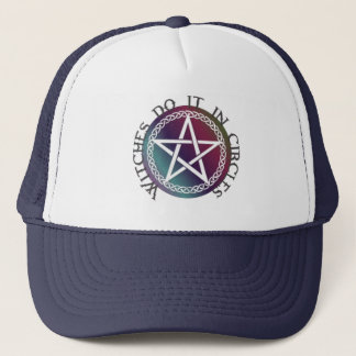"""Witches do it in circles"" cute Pagan design Trucker Hat"