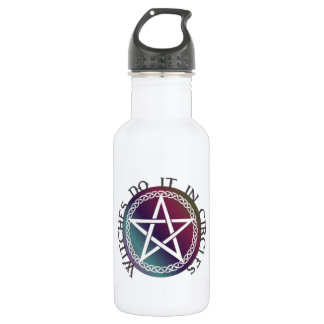 """""""Witches do it in circles"""" cute Pagan design Water Bottle"""