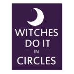 Witches do it in circles post cards