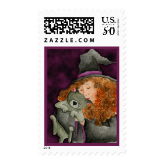 Witches Familiar Postage Stamp