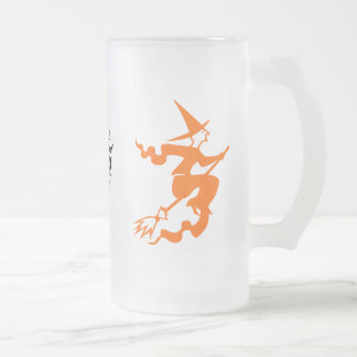 Witches Frosted Glass Beer Mug