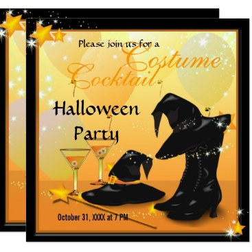 Halloween Themed Witches Halloween Enchanting Cocktail Witch Party Card