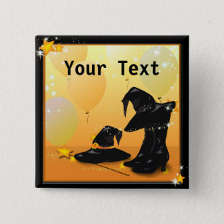 Witches Halloween Enchanting Witch Custom Button