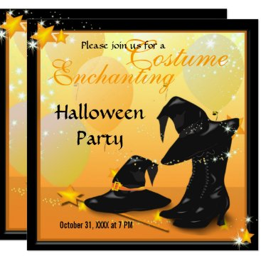 Halloween Themed Witches Halloween Enchanting Witch Invitation