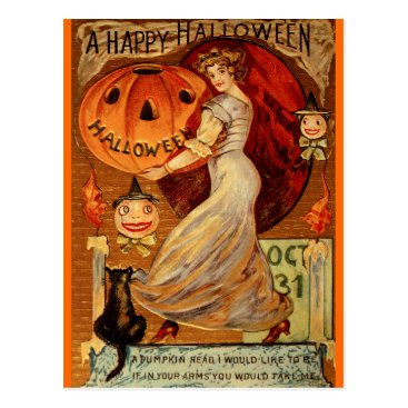 Halloween Themed Witches, Halloween, Magic, Spooky, Cute Postcard