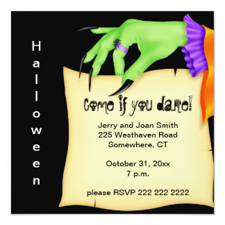 Witches Hand Halloween Card