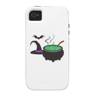 WITCHES HAT AND CAULDRON VIBE iPhone 4 CASES