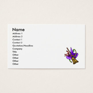 witches hat & broom business card