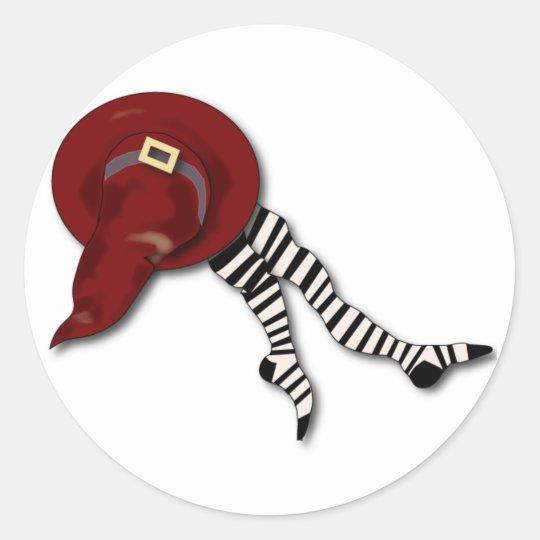 witches-hat classic round sticker