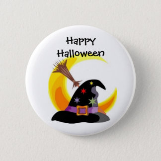 Witches Hat Happy Halloween Pin - Customized