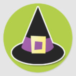 Witches Hat on Green Sticker
