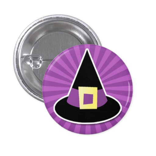 Witches Hat with Purple Band Button