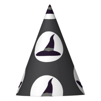 Witches hats on grey background Halloween