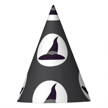 Halloween Themed Witches hats on grey background Halloween