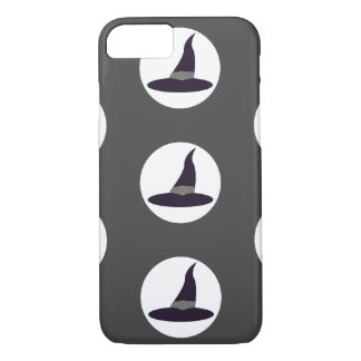 Witches hats on grey background Halloween iPhone 7 Case